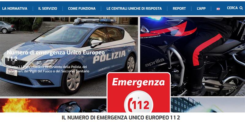 Emergenze, il 112 diventa (anche) una app