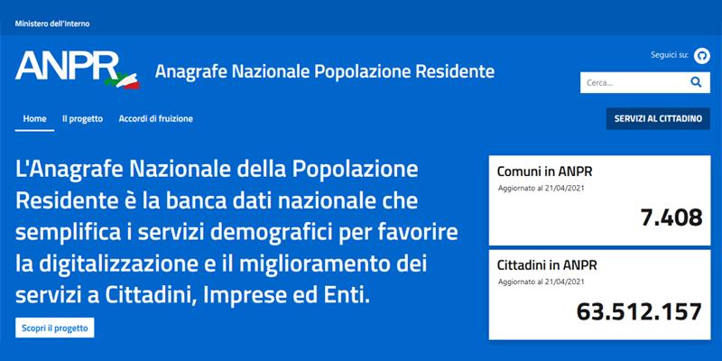 ANPR: online il nuovo portale per comuni digitali